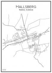 Stadskarta över Hallsberg