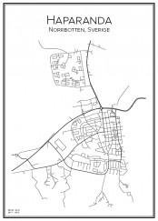 Stadskarta över Haparanda