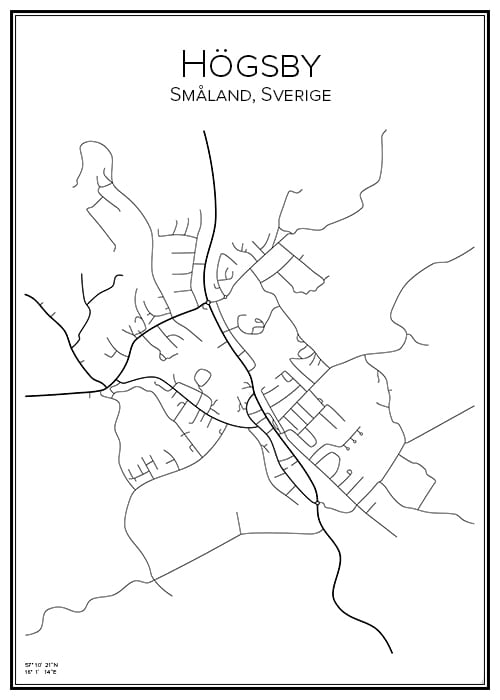 Stadskarta över Högsby