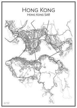 Stadskarta över Hong Kong