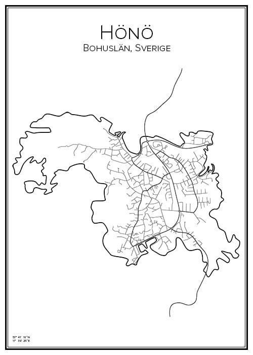 Stadskarta över Hönö