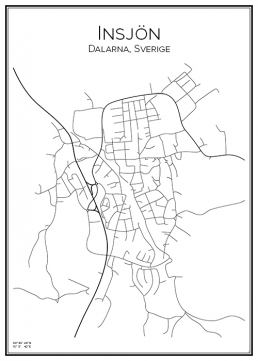 Stadskarta över Insjön
