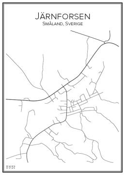Stadskarta över Järnforsen