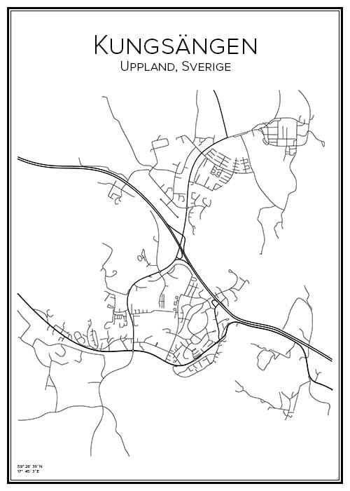 Stadskarta över Kungsängen