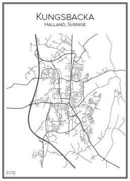 Stadskarta över Kungsbacka