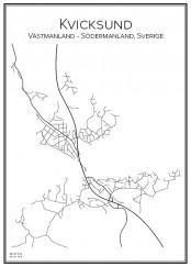 Stadskarta över Kvicksund