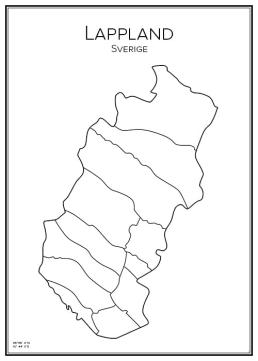 Stadskarta över Lappland