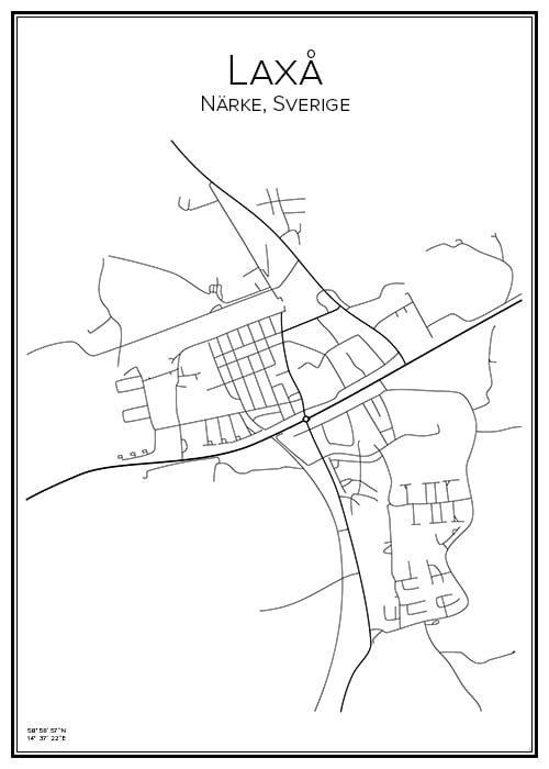 Stadskarta över Laxå