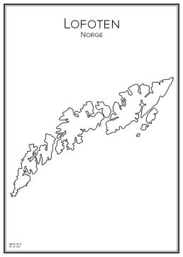 Stadskarta över Lofoten