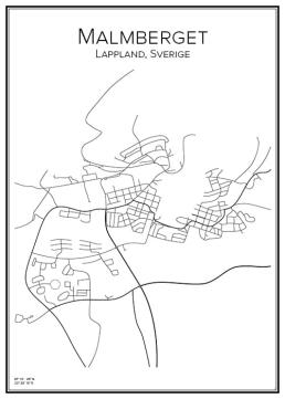 Stadskarta över Malmberget