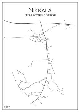 Stadskarta över Nikkala
