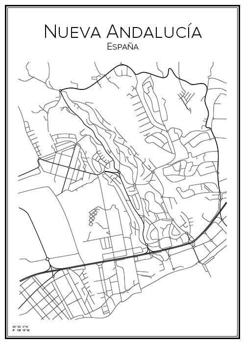 Stadskarta över Nueva Andalucía