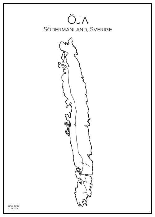Stadskarta över Öja