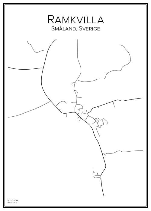 Stadskarta över Ramkvilla