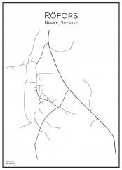 Stadskarta över Röfors