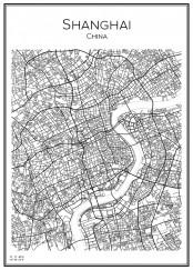 Stadskarta över Shanghai.