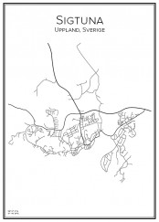 Stadskarta över Sigtuna