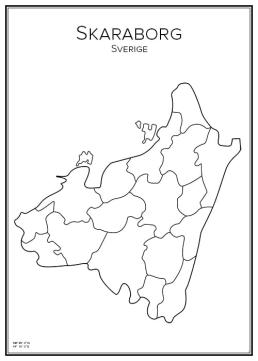 Stadskarta öve Skaraborg