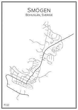 Stadskarta över Smögen