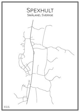 Stadskarta över Spexhult