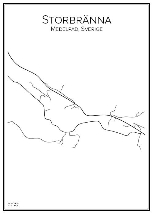 Stadskarta över Storbränna