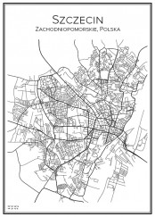 Stadskarta över Szczecin