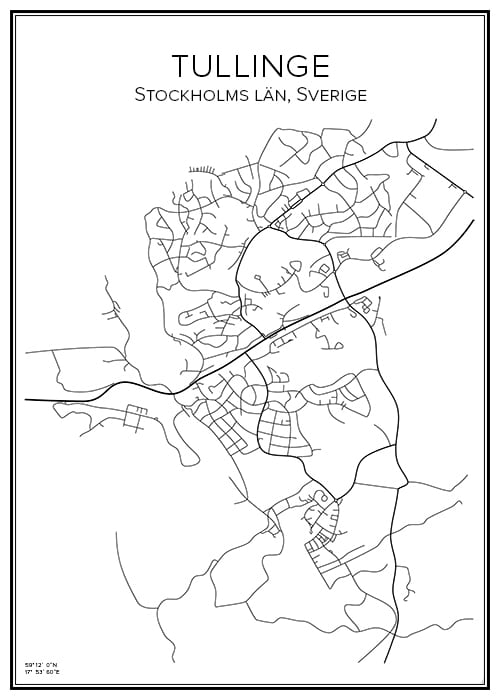 Stadskarta över Tullinge