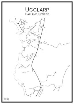 Stadskarta över Ugglarp