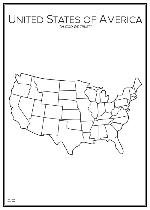 Stadskarta över USA