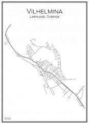 Stadskarta över Vilhelmina