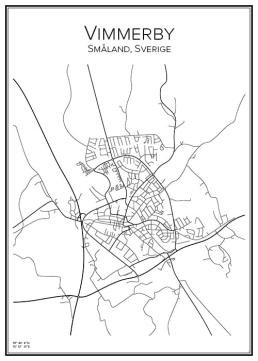 Stadskarta över Vimmerby