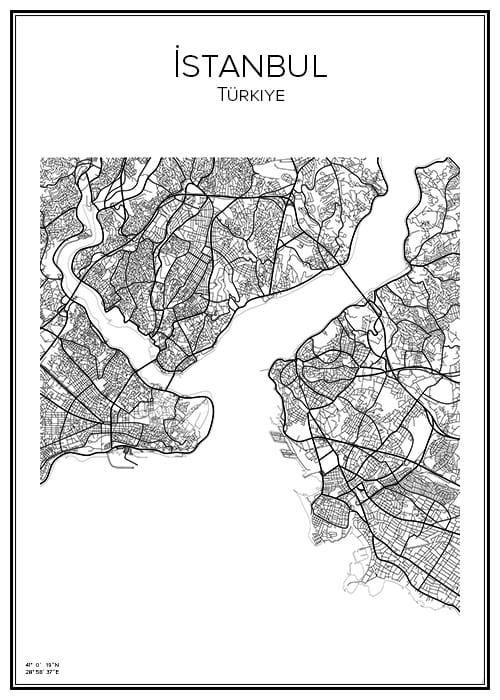 Stadskarta över Istanbul
