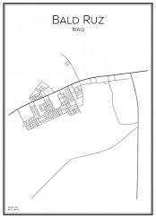 Stadskarta över Bald Ruz