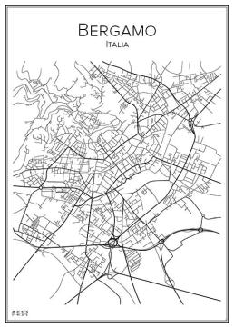 Stadskarta över Bergamo
