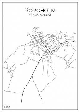 Stadskarta över Borgholm