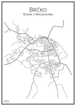 Stadskarta över Brčko