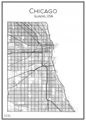 Stadskarta öcer Chicago