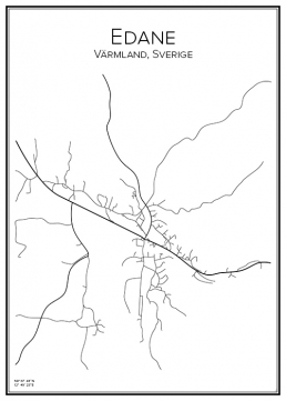 Stadskarta över Edane