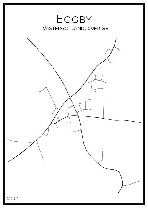 Stadskarta över Eggby