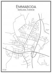 Stadskarta över Emmaboda