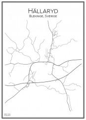 Stadskarta över Hällaryd