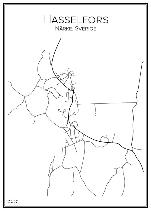 Stadskarta över Hasselfors