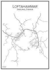 Stadskarta över Loftahammar