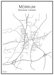 Stadskarta över Mörrum