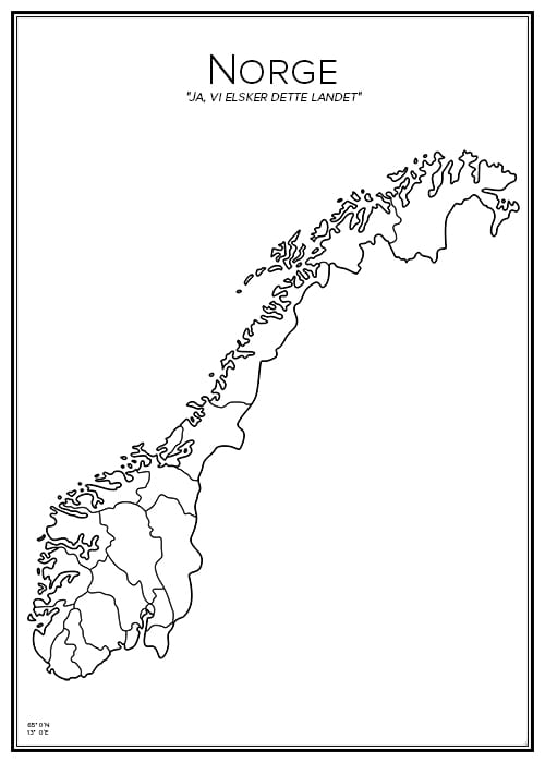 Stadskarta över Norge