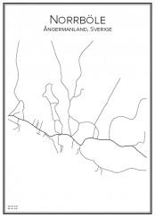 Stadskarta över Norrböle