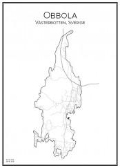 Stadskarta över Obbola