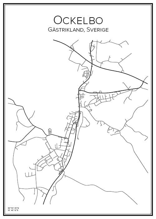 Stadskarta över Ockelbo