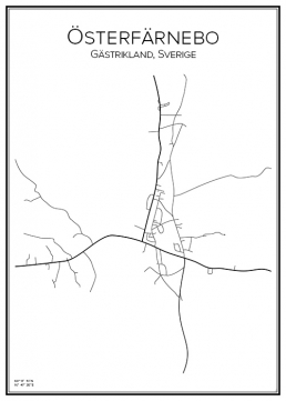 Stadskarta över Österfärnebo