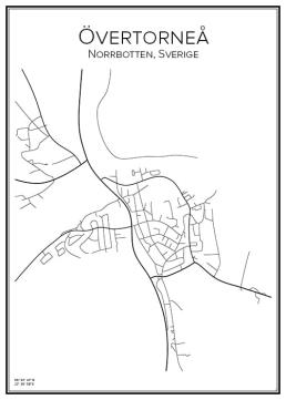 Stadskarta över Övertorneå